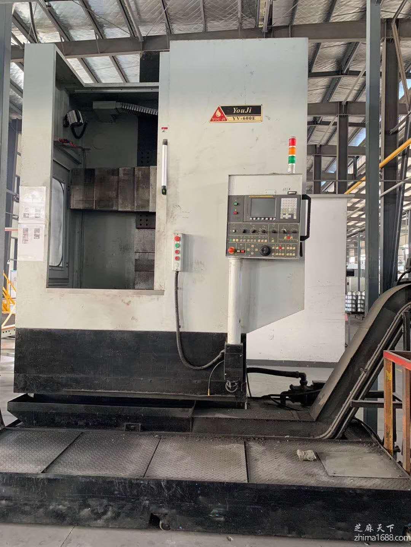 二手台湾油机YV600E数控立式车床