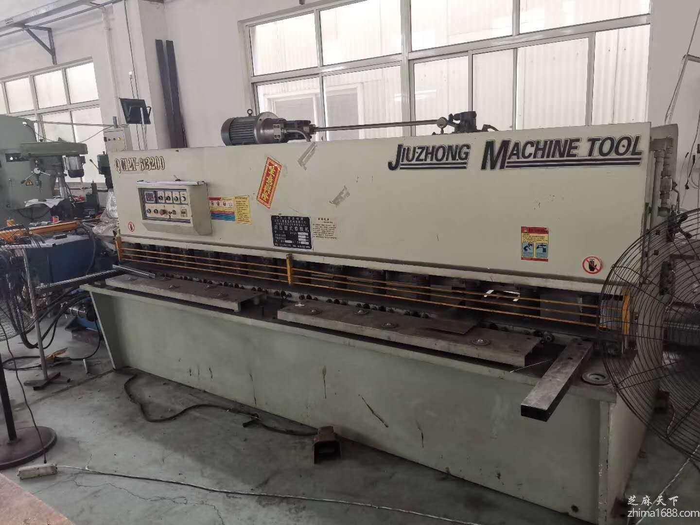 二手江苏久重QC12Y-6×3200液压摆式剪板机
