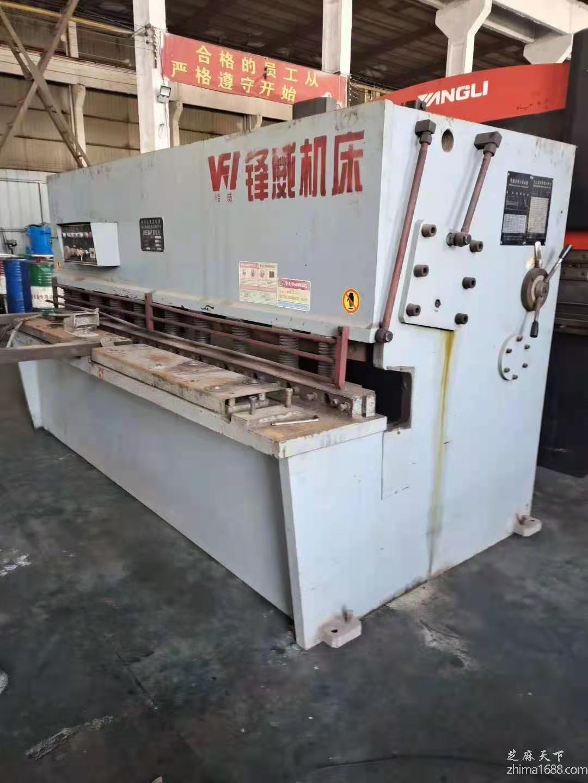 二手海安锋威QC12Y-10×2500液压摆式剪板机