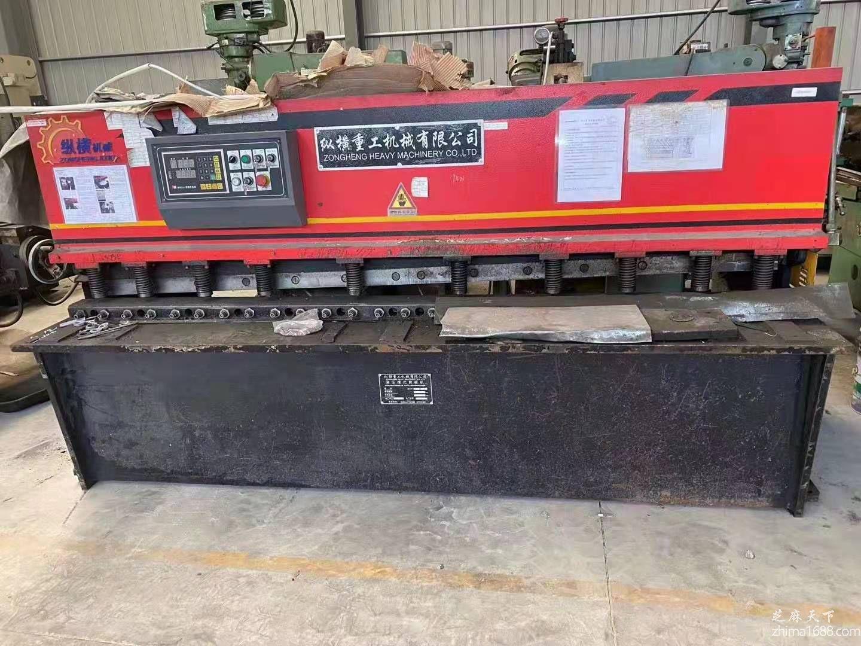 二手纵横重工QC12Y-4×2500液压摆式剪板机